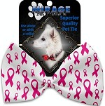 Pink Ribbons Pet Bow Tie