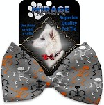 Skeletons Dancing Pet Bow Tie