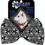 Spinning Skulls Pet Bow Tie