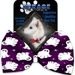 Ghosts on Purple Pet Bow Tie