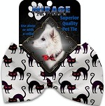 Purple Kitties Pet Bow Tie