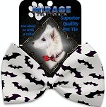 Purple Bats Pet Bow Tie