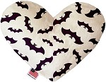 Purple Bats 6 Inch Heart Dog Toy