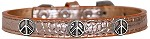 Peace Sign Widget Croc Dog Collar Copper Size 10