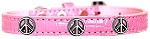 Peace Sign Widget Croc Dog Collar Light Pink Size 10