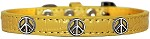 Peace Sign Widget Croc Dog Collar Yellow Size 10