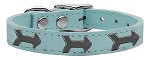 Arrow Widget Genuine Leather Dog Collar Baby Blue 10