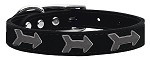 Arrow Widget Genuine Leather Dog Collar Black 10