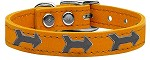 Arrow Widget Genuine Leather Dog Collar Mandarin 10