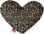 Skater Skulls 6 Inch Heart Dog Toy
