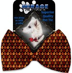 Autumn Leaves Pet Bow Tie Collar Accessory with Velcro