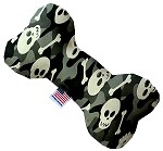 Gray Camo Skulls 6 Inch Bone Dog Toy