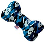 Blue Camo Skulls 6 Inch Bone Dog Toy