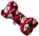 Pink Camo Skulls 6 Inch Bone Dog Toy