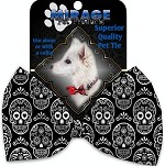 Classic Sugar Skulls Pet Bow Tie