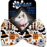 Classic Halloween Pet Bow Tie Collar Accessory with Velcro