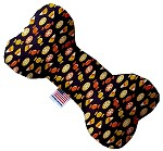 Halloween Candy Confetti 6 Inch Bone Dog Toy