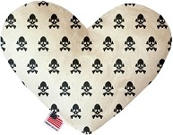 Pure Poison 6 inch Stuffing Free Heart Dog Toy