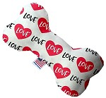 Classic Love 8 inch Stuffing Free Bone Dog Toy
