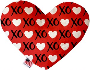 Red XOXO 6 inch Heart Dog Toy