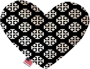 Jerusalem Cross 6 inch Stuffing Free Heart Dog Toy
