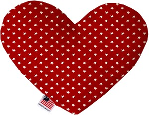 Red Stars 6 inch Stuffing Free Heart Dog Toy
