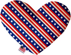Stars and Stripes 6 inch Stuffing Free Heart Dog Toy