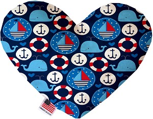 Anchors Away 8 inch Stuffing Free Heart Dog Toy