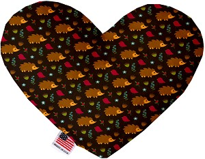 Hedgehogs 8 inch Heart Dog Toy