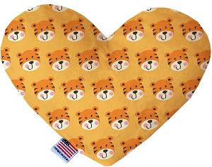 Tally the Tiger 8 inch Stuffing Free Heart Dog Toy