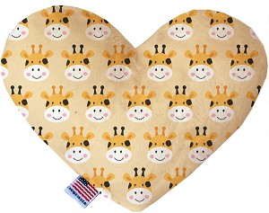 Georgie the Giraffe 8 inch Stuffing Free Heart Dog Toy