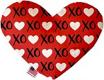 Red XOXO 8 inch Stuffing Free Heart Dog Toy