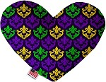 Classic Fleur de Lis 6 inch Stuffing Free Heart Dog Toy