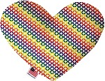 Rainbow Bright Diamonds 6 inch Heart Dog Toy