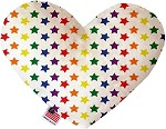 Rainbow Stars 6 inch Stuffing Free Heart Dog Toy