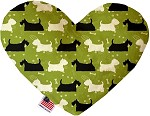 Scottie and Westie 6 inch Stuffing Free Heart Dog Toy