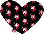 Pretty Pink Unicorns 8 inch Heart Dog Toy
