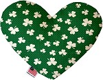 Shamrock 6 inch Heart Dog Toy