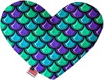 Mermaid Scales 8 inch Stuffing Free Heart Dog Toy