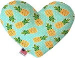 Pineapples and Polka Dots 8 inch Stuffing Free Heart Dog Toy