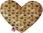 Mocha Paws and Bones 8 inch Stuffing Free Heart Dog Toy