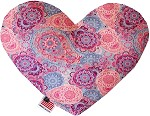 Pink Bohemian 8 inch Heart Dog Toy