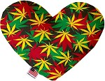 Rasta Mary Jane 6 inch Heart Dog Toy