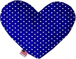 Blue Stars 8 inch Stuffing Free Heart Dog Toy