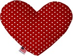 Red Stars 8 inch Stuffing Free Heart Dog Toy