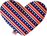 Stars and Stripes 8 inch Heart Dog Toy