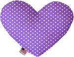 Purple Polka Dots 6 inch Heart Dog Toy