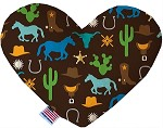 Western Fun 8 inch Stuffing Free Heart Dog Toy