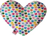 Confetti Paws 6 inch Stuffing Free Heart Dog Toy