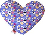 Chicks and Bunnies 8 inch Stuffing Free Heart Dog Toy